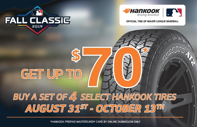 Hankook Rebate  !THIS IS AN ONLINE SUBMISSION ONLY REBATE!