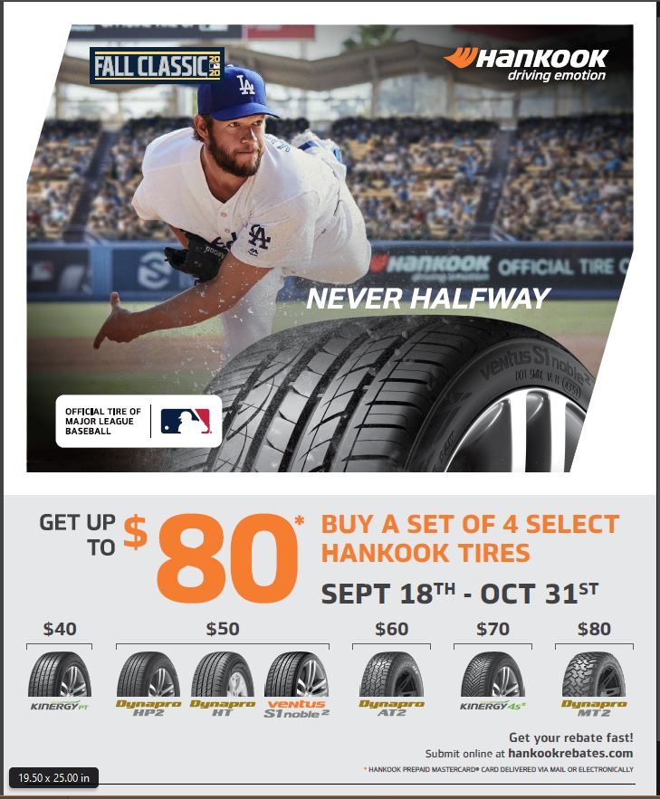 Hankook Fall Classic National Rebate